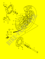 REAR WHEEL  RM250K1(E2) K1 2001 Motorcycle Suzuki microfiche diagram