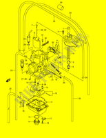 CARBURETOR (MODEL K2)  RM250K1(E2) K1 2001 Motorcycle Suzuki microfiche diagram