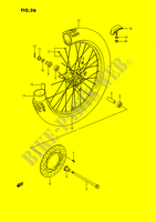 FRONT WHEEL (MODEL G/H/J/K) SUSPENSION/BRAKES/WHEELS 80 suzuki-motorcycle RM 1989 DP026787