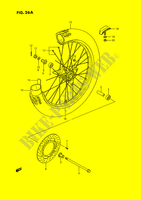 FRONT WHEEL (MODEL L/M/N/P/R/S) SUSPENSION/BRAKES/WHEELS 80 suzuki-motorcycle RM 1989 DP026806