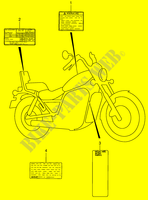 WARNING LABEL  VS1400K5(E3/E28) K5 2005 Motorcycle Suzuki microfiche diagram