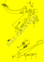 STAND - REAR BRAKE  VS1400K5(E3/E28) K5 2005 Motorcycle Suzuki microfiche diagram