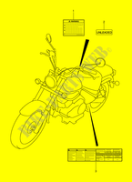 LABEL (MODEL K2/K3/K4) for Suzuki INTRUDER 125 2000