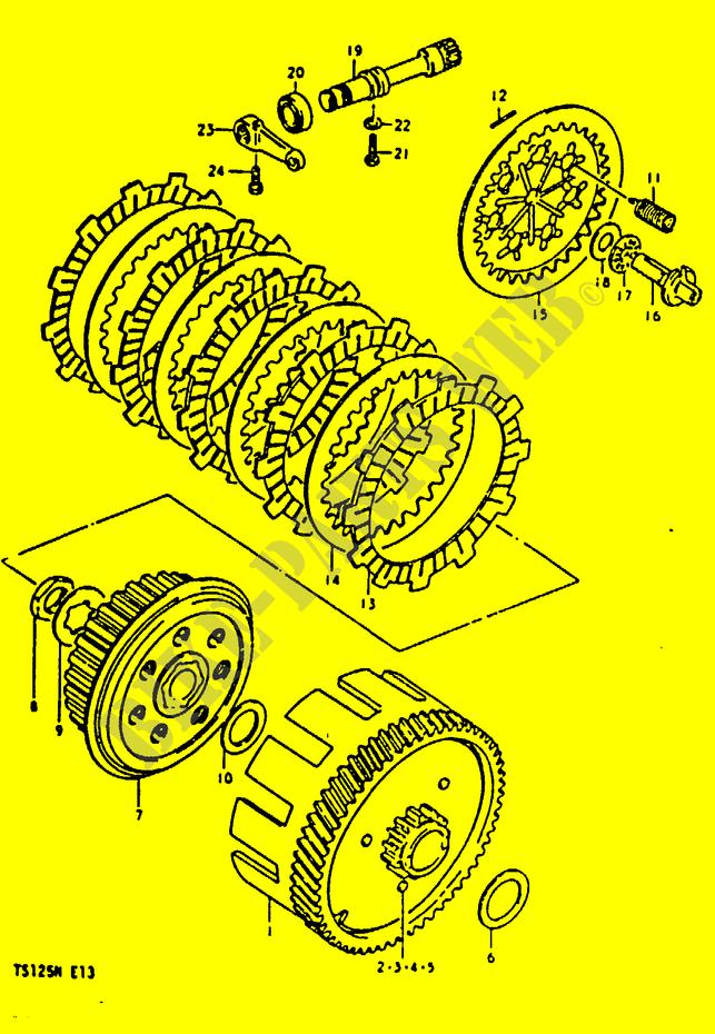 CLUTCH (~F NO 151092) for Suzuki 1992 # SUZUKI MOTORCYCLES