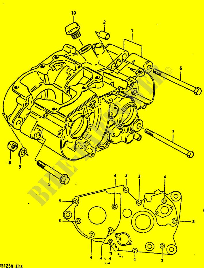 Crankcase For Suzuki Ts 125 1992   Suzuki Motorcycles