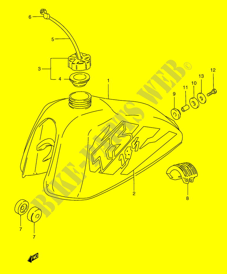 Fuel Tank  Ts185erw  Erx  For Suzuki Ts