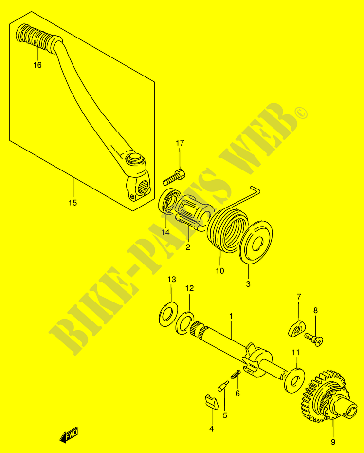 Suzuki 09139-06002 KICK STARTER PAWL SCREW