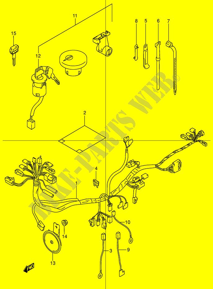 wiring harness trsw e w trsw e tr s suzuki wiring harness tr50sw e2 w 1998 motorcycle suzuki microfiche