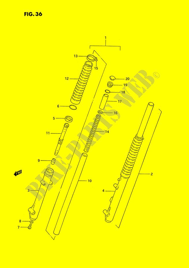 Front Fork For Suzuki Ts