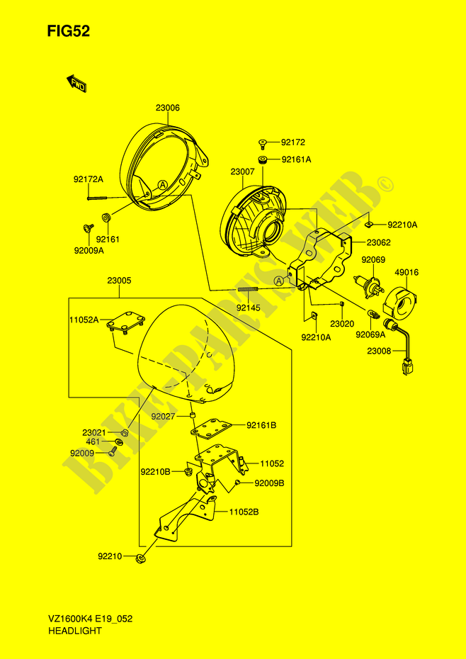 HEADLIGHT for Suzuki 2004 # SUZUKI MOTORCYCLES - Genuine ... on