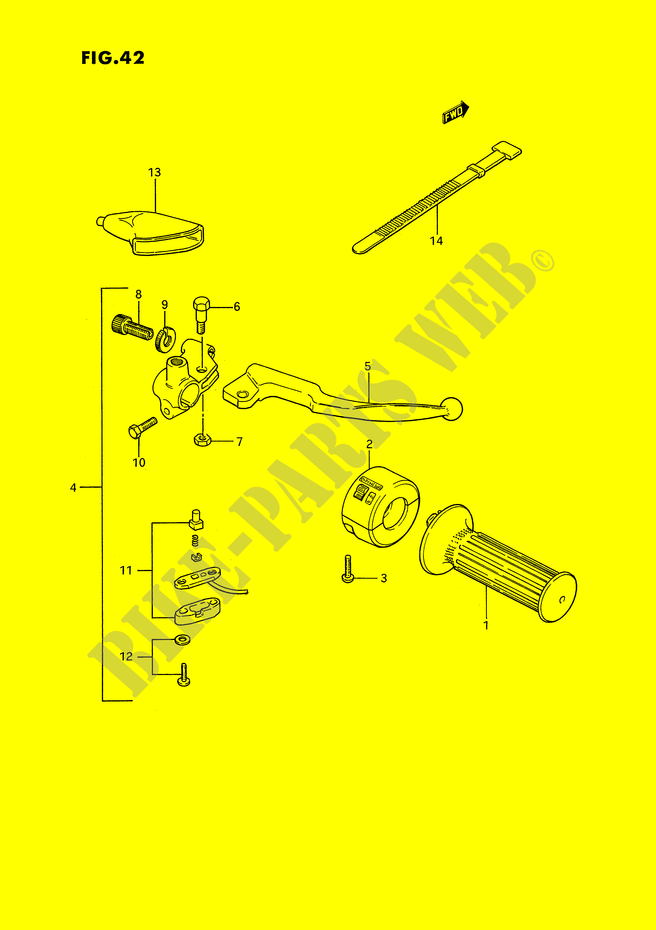 Right Switch Handgrip For Suzuki Ts