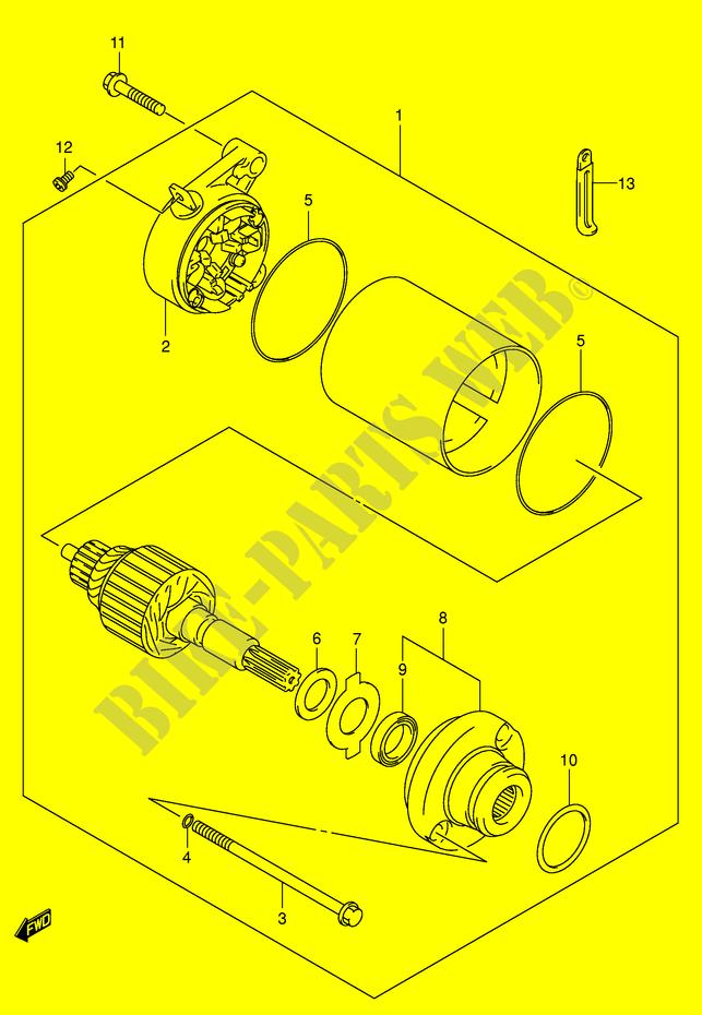 suzuki moto 125 intruder 2001 vl125uk1(e2) electrical starter motor