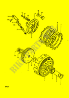 CLUTCH for Suzuki RM 50 1979