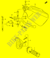 RIGHT HANDLE LEVER (E24)  DR350V(E1) V 1997 Motorcycle Suzuki microfiche diagram