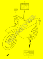 LABEL for Suzuki DR 200 2004