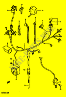 wiring harness electrical dr600rg e2 1986 dr 600 moto suzuki Suzuki Sierra Wiring Diagram wiring harness
