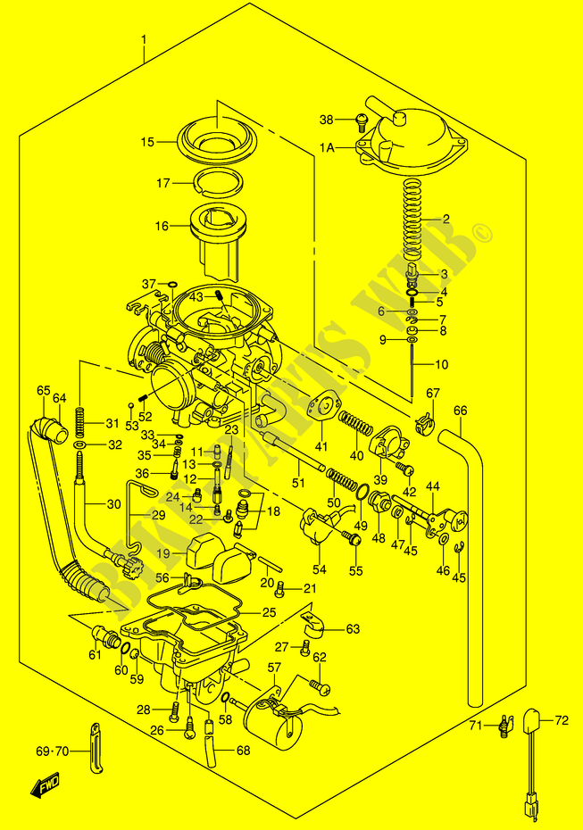 carburetor for suzuki 400 dr-z 2001