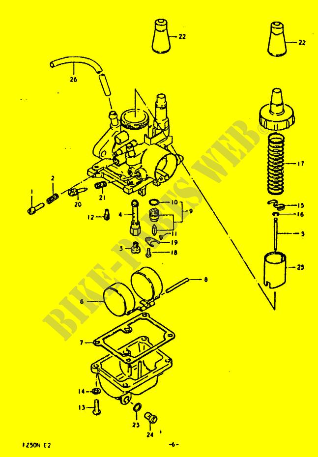 SUZUKI FZ50 FZ NEW GENUINE REED VALVE ASSY 13150-02400