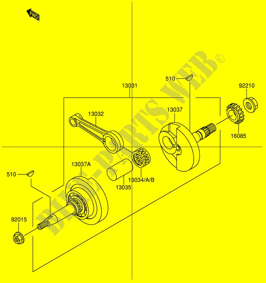 Suzuki SCOOTER 110 FD 2003 FD112KK3(E41) ENGINE/TRANSMISSION CRANKSHAFT
