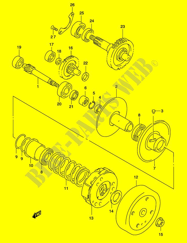 transmission 2 model ay50 k3 k4 engine transmission ay50wsk4 p19 rh bike parts suz com