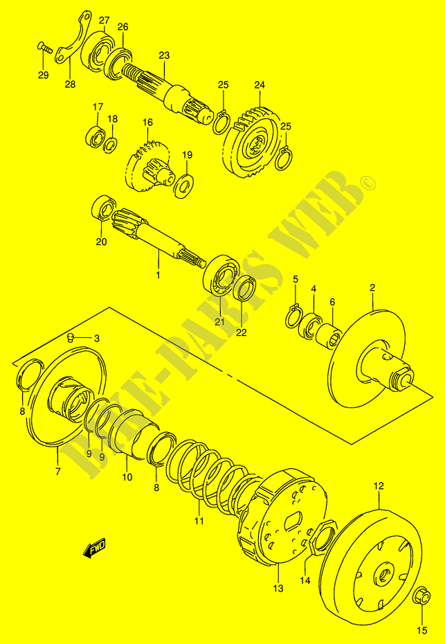 model t transmission exploded view