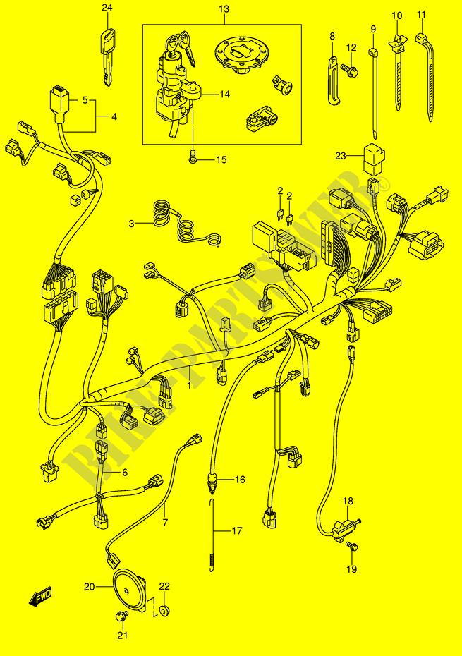 Wiring Harness Model K4 K5 K6 Electrical Dl1000k4 E2 2004 V Strom Rhbikepartssuz: Strom 1000 Wiring Diagram At Gmaili.net