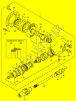 PROPELLER SHAFT - FINAL DRIVE GEAR  VS1400K5(E3/E28) K5 2005 Motorcycle Suzuki microfiche diagram