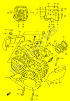 CYLINDER HEAD (REAR)  VS1400K5(E3/E28) K5 2005 Motorcycle Suzuki microfiche diagram