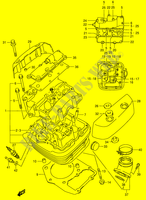 CYLINDER HEAD (FRONT)  VS1400K5(E3/E28) K5 2005 Motorcycle Suzuki microfiche diagram