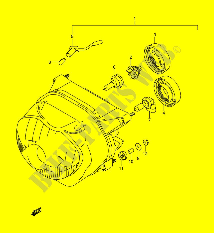 Headlight Model Y K1 E2e24 Electrical Xf650uw E2 1998 Freewind 650 E24 Wiring Diagrams Suzuki Moto Xf650uwe2