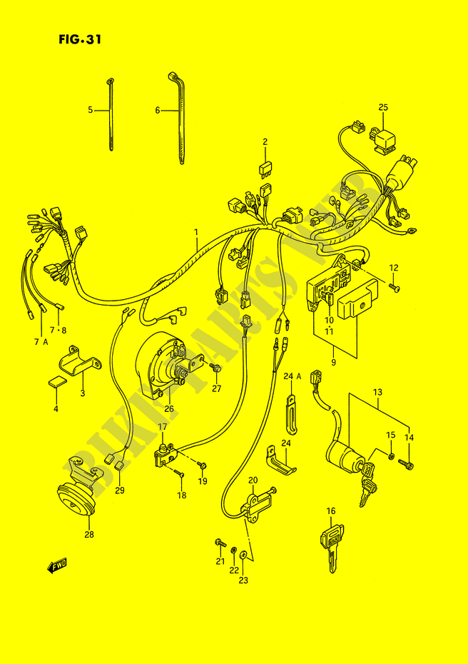 WIRING HARNESS (MODEL H/J/K/L/M/N/P/R) for Suzuki 1400 INTRUDER 1995 on h and m bag, h and m backpack, h and m horse, h and m tube, h and m vest, h and m tumblr, h and m boots, h and m tower, h and m furniture, h and m wetsuit,