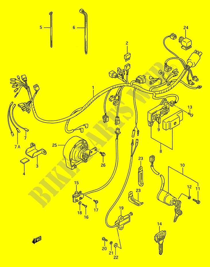 Wiring Harness For Suzuki Intruder 1400 1993 Suzuki Motorcycles Genuine Spare Parts Catalog