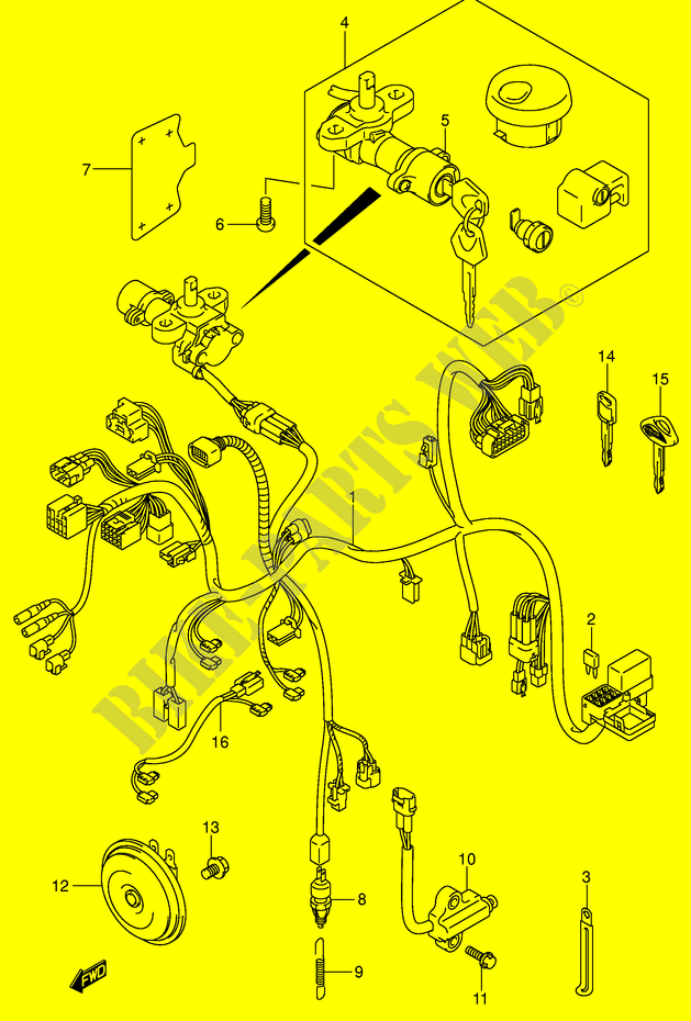WIRING HARNESS (VL800K3/ZK3) for Suzuki VOLUSIA 800 2003 ... on sincgars radio configurations diagrams, series and parallel circuits diagrams, smart car diagrams, electronic circuit diagrams, battery diagrams, gmc fuse box diagrams, internet of things diagrams, lighting diagrams, switch diagrams, hvac diagrams, friendship bracelet diagrams, pinout diagrams, troubleshooting diagrams, honda motorcycle repair diagrams, led circuit diagrams, engine diagrams, motor diagrams, transformer diagrams, electrical diagrams,