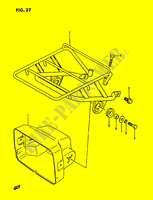 HEADLAMP HOUSING  LTF230G(E3) G 1986 Motorcycle Suzuki microfiche diagram