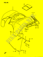 REAR FENDER  LTF230G(E3) G 1986 Motorcycle Suzuki microfiche diagram