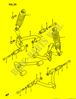 SUSPENSION ARM  LTF230G(E3) G 1986 Motorcycle Suzuki microfiche diagram