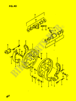 FRONT WHEEL BRAKE  LTF230G(E3) G 1986 Motorcycle Suzuki microfiche diagram