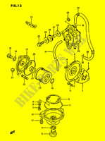 OIL PUMP - FUEL PUMP  LTF230G(E3) G 1986 Motorcycle Suzuki microfiche diagram