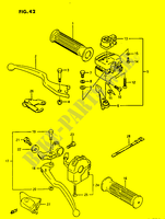 HANDLE SWITCH  LTF230G(E3) G 1986 Motorcycle Suzuki microfiche diagram