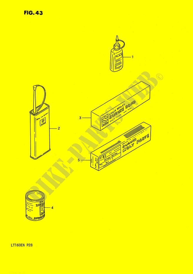 OPTIONS for Suzuki QUADRUNNER 160 1992 # SUZUKI ...