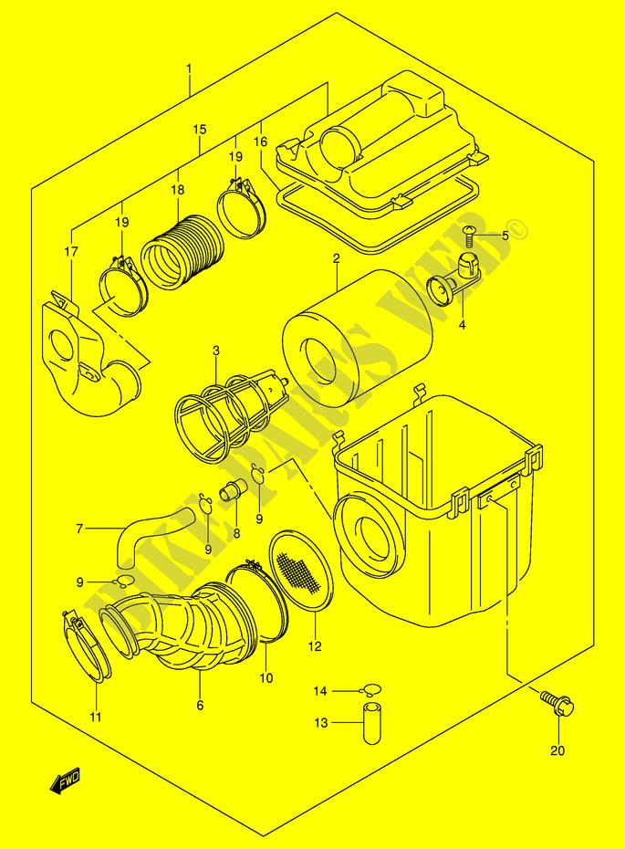 air filter for suzuki 2004 suzuki motorcycles genuine spare Suzuki Eiger 400 Wiring Diagram