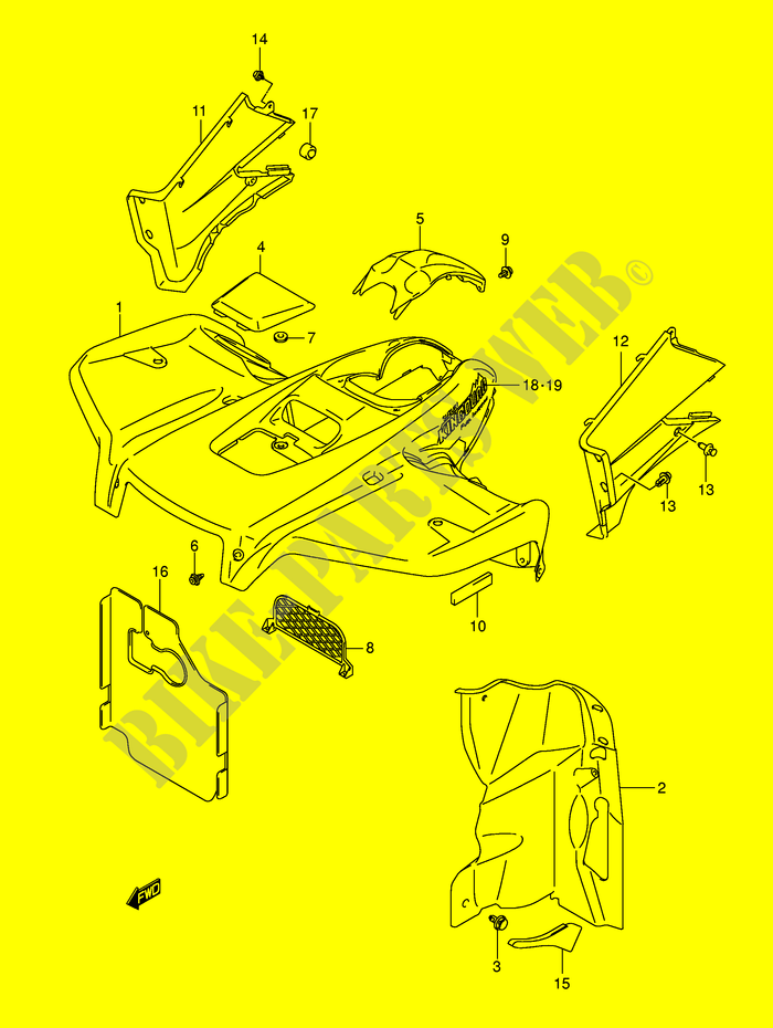 Suzuki King Quad Parts Diagram