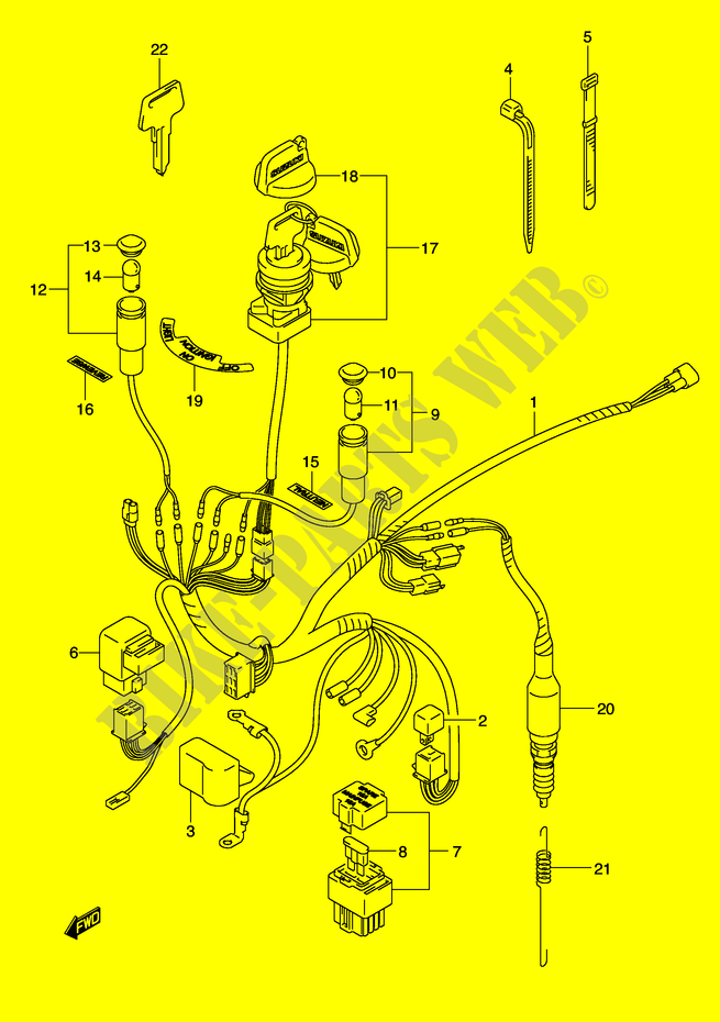 WIRING HARNESS (MODEL K2) for Suzuki 160 OZARK 2000 # SUZUKI ... on suzuki quadrunner 250 starter wiring, suzuki sv650 electrical diagram, lt160 parts diagram, 1986 suzuki 650 wiring diagram, 2005 suzuki gsxr 600 wiring diagram, suzuki ozark 250 fuse diagram, suzuki 250 diagram for 1985, suzuki atv wiring diagrams, 2007 suzuki 750 wire diagram, 1997 suzuki quadrunner starter wire diagram, suzuki 230 quadrunner wiring-diagram, suzuki atv parts diagram, suzuki quadrunner 160,