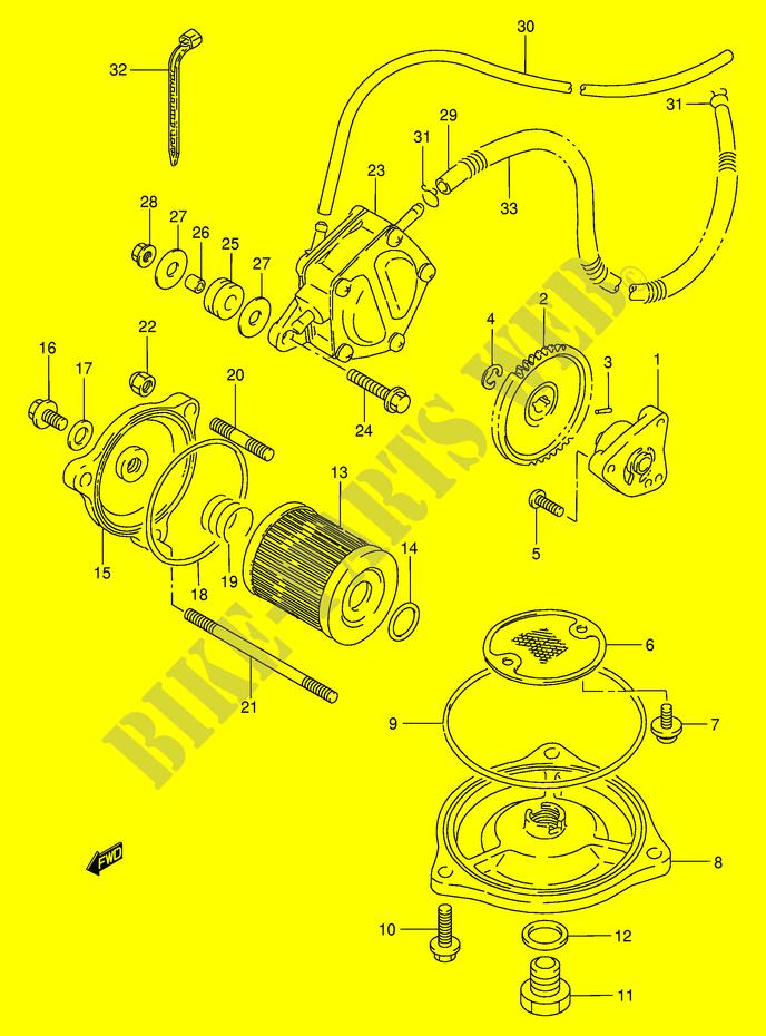 oil pump fuel pump engine transmission lt f300k1 e24 2001 kingquadoil pump fuel pump for suzuki 300 kingquad 2001