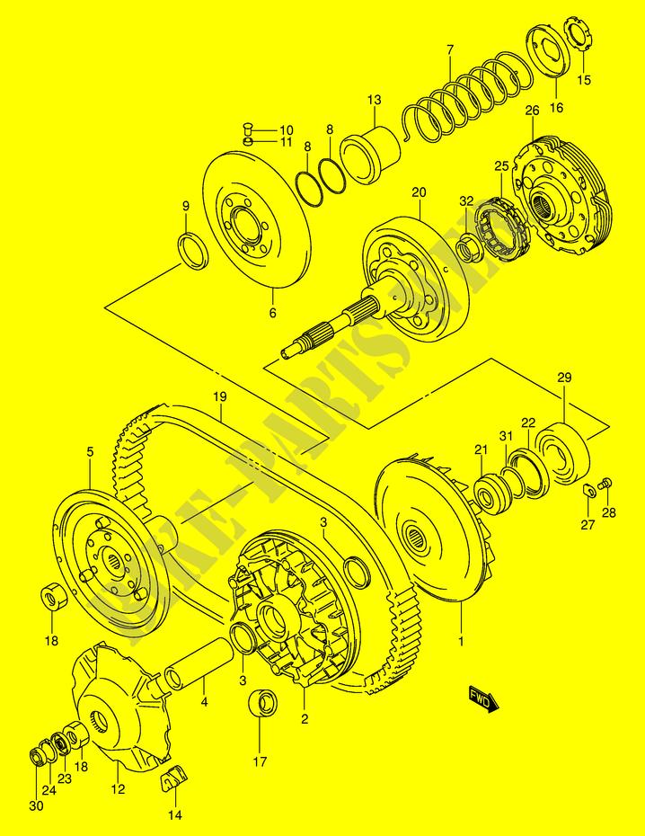 TRANSMISSION (1) for Suzuki EIGER 400 2003 # SUZUKI MOTORCYCLES - Genuine  Spare Parts CatalogSUZUKI MOTORCYCLES - Genuine Spare Parts Catalog