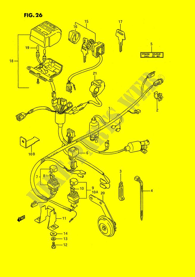 wiring harness electrical lt f250p e2 1993 ozark 250 atv suzuki rh bike parts suz com