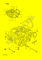 CRANKCASE (MODEL F/G) for Suzuki QUADRACER 250 1990