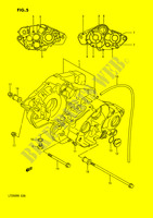 CRANKCASE (MODEL H/J/K/L/M/N) for Suzuki QUADRACER 250 1990