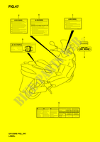 LABEL  UH125K6(P2) K6 2006 Motorcycle Suzuki microfiche diagram