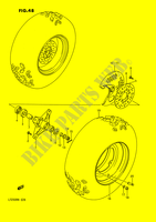 FRONT WHEEL for Suzuki QUADRACER 250 1990